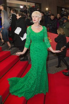 Step Six: Start over by correcting your stance and having another flawless photo taken. | Helen Mirren Even Falls Over Elegantly