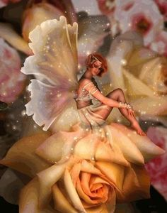 ≍ Nature's Fairy Nymphs ≍ magical elves, sprites, pixies and winged woodland faeries - on flowers Fairy Dust, Fairy Land, Fairy Tales, Fantasy World, Fantasy Art, Fantasy Fairies, Kobold, Fairy Pictures, Love Fairy