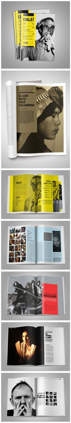 REVISTA DALE! Really like the spread with the Beatles. Stark contrast between…