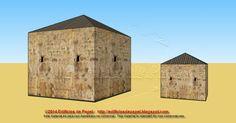 Maqueta de Papel 1505: Granero de piedra en 2 tamaños - Stone barn in 2 sizes