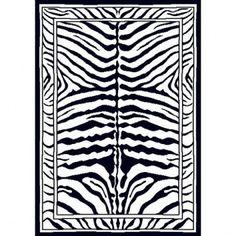 Home Dynamix Zone 7160 Zebra Print Rug - zone/7160/black
