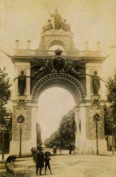 Arc del triomf Gran Via / Plaza Tetuan. Exposició Universal 1888. Madrid