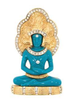 A Hattie Carnegie Blue Shiva Pin