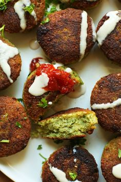 PERFECT 10-ingredient Classic Falafels! Crispy, tender, SO flavorful! #vegan #glutenfree #falafel #dinner #recipe