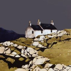 Glendale, South Uist - Ron Lawson - The Grey Light - Strathearn Gallery Watercolor Landscape, Landscape Art, Landscape Paintings, Watercolor Artists, Watercolor Painting, Illustration Art, Illustrations, Naive Art, Art Plastique
