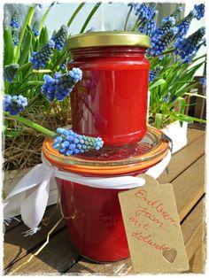 Rezepte mit Herz ♥: Erdbeer Jam - Erdbeermarmelade mit Holunder