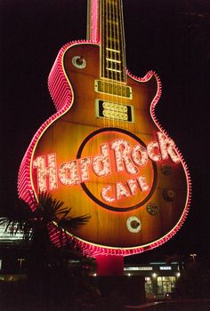 Hard Rock Cafe in Vegas.  I pin alot from vegas here because it played a hugh part in my life.. photo by 2007 larrylgreenhill on photography review