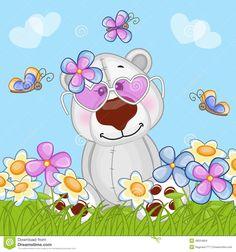Polar Bear with flowers stock vector. Illustration of animals - 48024854 Pattern Ideas, Polar Bear, Silhouettes, Cross Stitch Patterns, Bears, Vectors, Butterfly, Sign, Stock Photos