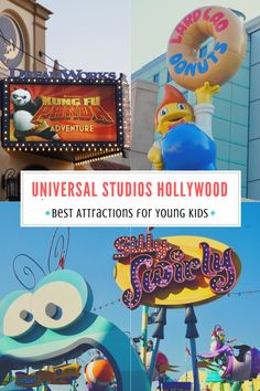 Are you planning a family vacation to California and wondering if young kids will enjoy Universal Studios Hollywood? From rides to character meet and greets to entertainment, here are the best attractions for young kids at Universal Studios Hollywood! Universal Studios, Universal Orlando, The Farm, Family Vacation Destinations, Disney Vacations, Family Vacations, Disney Cruise, California Travel, Hollywood California