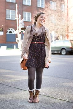 Great basic socks and tights can take an outfit from okay to complete! It's all in the details. ;)