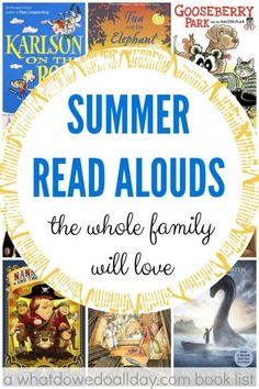 Read aloud books for the summer that everyone will love.