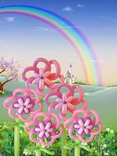 Balloon Flowers #balloon #twisting #flower