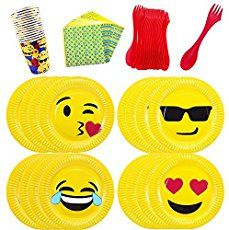 This emoji party package is perfect for your next celebration! Use our FREE printables and throw a low-cost emoji party of your own!