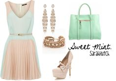 Mint and Pink, created by shutch1996 on Polyvore