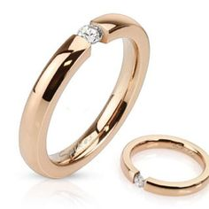 West Coast Jewelry Tension Set CZ Rose Gold IP Stainless Steel Band Ring ** Hope you do like our photo. (This is our affiliate link) Diamond Bands, Diamond Wedding Bands, Gold Bands, Wedding Rings, Ring Rosegold, Rose Gold Band Ring, Gold Body Jewellery, Jewelry Rings, White Gold Rings