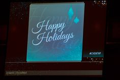 Happy Holidays! Cvent SocialWall is always in action at our company events. #CventHP