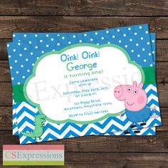 Peppa Pig George and Dinosaur Birthday Party by CSExpressions