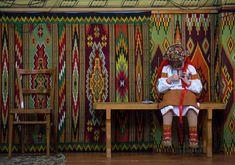 Little Ukrainian girl dressed in Hutsul costume, so cute!