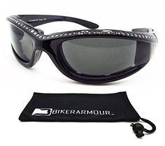 4f04da1b23 Black Frame Motorcycle Rhinestone Sunglasses Foam Padded for Women.  Bikershades http   www