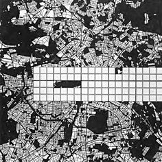Two speculated forms of accelerated urbanism in O. Ungers' studio prompt 'Berlin A Planning-Mode for a Five-Million City in Transition from the where students designed complexity into how these logics meet the city Explorer Map, Berlin, How To Plan, Prompt, Architecture, City, Drawings, 1970s, Maps