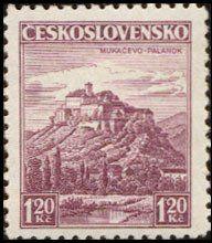 Znaczek: Mukačevo, Palanok (Czechosłowacja) (Castles, landscapes and cities) Mi:CS 351,Sn:CS 218,Yt:CS 311,AFA:CS 214,POF:CS 304