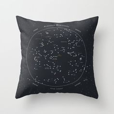 Star Chart Constellation Throw Pillow Cover // decorative pillow // accent pillow // cushion cover // home goods // astronomy pillow //stars