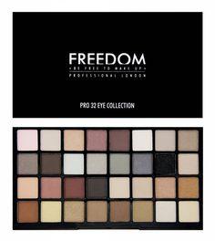 Koop hier jouw Freedom Pro 32 Oogschaduw Palette en andere make-up musthaves. Wij zijn fan van lage verzendkosten (2,95 euro) en vanaf 40 euro sturen wij het gr
