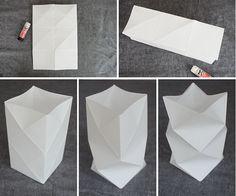 DIY/Pyssel: Vik egen papperslykta Origami And Kirigami, Origami Love, Origami Paper, Origami Lantern, Lantern Craft, Diy Paper Lanterns, Paper Lamps, Diy And Crafts, Paper Crafts
