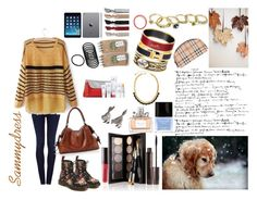 """Fall Winter Outfit"" by aennea ❤ liked on Polyvore featuring Goldsign, Burberry, Laura Mercier, Butter London, Hermès, Christian Dior, Juicy Couture, Dr. Martens, Emi-Jay and Ethan Allen"
