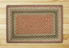 Olive, Burgundy & Gray Rectangle Braided Rug . $27.95