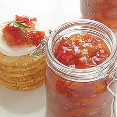 57 Fresh Summer Peach Recipes | Tomato-Peach Preserves | SouthernLiving.com