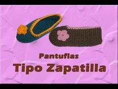 ▶ Pantuflas tipo zapatilla azules - YouTube
