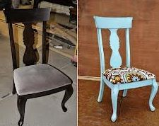 A new coat of paint and a fun print can brighten up any chair!