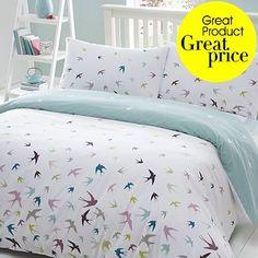 Birds! Would probably do a soild pillow case but love!