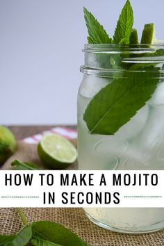 How to make a mojito in seconds. Doesn't everyone need to know how? Sign up for free recipes delivered to your inbox http://eepurl.com/bgGhFT