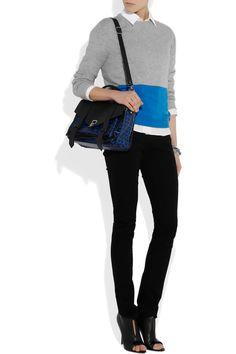 The PS1 medium printed leather satchel #bag | Proenza Schouler