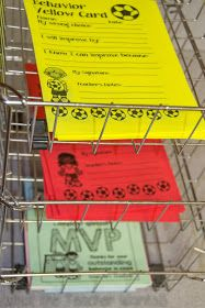 Behavior system for helping students become more accountable for their own behavior in class. Soccer themed to make it more fun for the students! The yellow cards and red cards make sense and feel important.