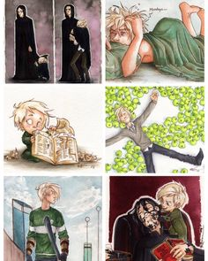 I'd say Draco is pretty hot and adorable at the same time. Harry Potter Comics, Harry Potter Anime, Art Harry Potter, Harry Draco, Harry Potter Marauders, Harry Potter Characters, Harry Potter Universal, Harry Potter Fandom, Harry Potter Memes