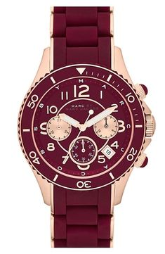 MARC BY MARC JACOBS Maroon & Rose Gold Watch