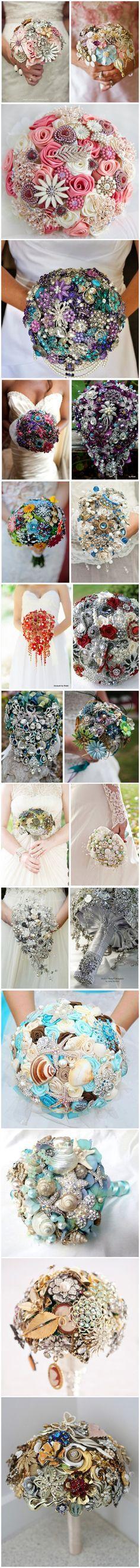 TOP 20 Chic Brooch Wedding Bouquets