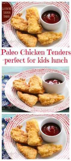 Paleo Chicken Tenders. These are perfect for kids lunches. Whole30 friendly. Very simple clean recipe. I make these weekly for my kids lunches. Wrap them in parchment paper before packing in a lunch box container to keep them fresh.