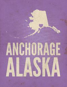 Anchorage Alaska Love Print 8 x 10 by AmyRogstad on Etsy