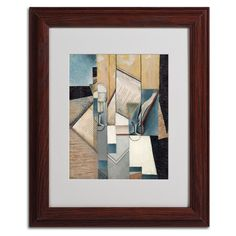 The Book 1913 by Juan Gris Matted Framed Painting Print