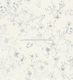 PAPEL PINTADO RASCH 268941 - COSY WHITE. ¡Papel pintado con flores pequeñas a 59,00 €! ¡Un catálogo totalmente nuevo! Papeles pintados ideales para decorar las paredes de un pequeño salón-comedor, habitaciones o espacios reducidos para darles grandiosidad.
