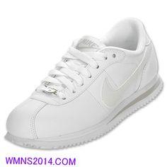 58abd0031552  58.76  Nike  Cortez Basic Leather Womens White Grey 317266 111 Nike Casual  Shoes Over