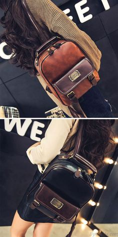 Retro Imitation leather Grain Bag Vintage Backpacks. Very nice!