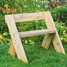 How to build the Aldo Leopold Garden Bench.