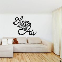 Love Is In The Air Wall Sticker Music Wall Art Part 63