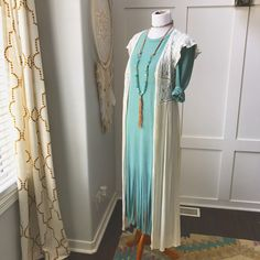 a4f1fcf915 Maxi dresses are such an easy comfortable style choice. Dress  29 Oh-Deerboutique.com   blue  outfit  summerfashion  cowgirl  westernstyle  maxikimono ...