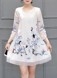 new Ideas for dress casual floral sleeve Trendy Dresses, Simple Dresses, Cute Dresses, Beautiful Dresses, Casual Dresses, Fashion Dresses, Dress Outfits, Simple Dress Casual, Kurta Designs Women